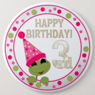 3. Geburtstags-Knopf VIP Runder Button 15,3 Cm