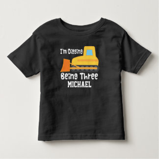 3. Geburtstags-Planierraupen-Bau-LKW-T - Shirt