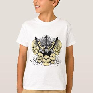3 Gitarren-Schädel T-Shirt