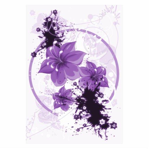 3 h bsche blumen lila fotoausschnitt zazzle. Black Bedroom Furniture Sets. Home Design Ideas