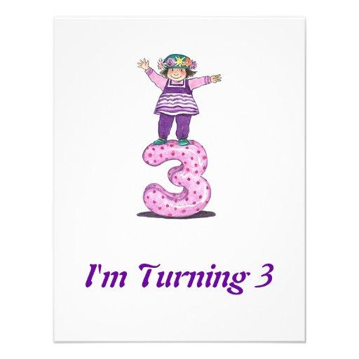 3. Mädchen-Geburtstags-Einladung