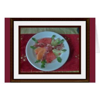 3 Melonen mit Parmaschinken Karte