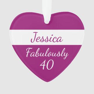 40. Geburtstag personifizieren Rosa fabelhaft 40 Ornament