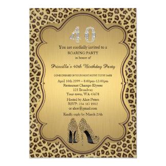 40., Geburtstags-Party 40., Cheetah-hohe Karte