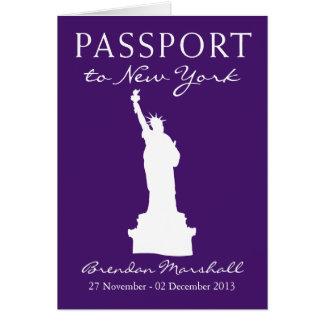 40. Geburtstags-Pass New York City Mitteilungskarte