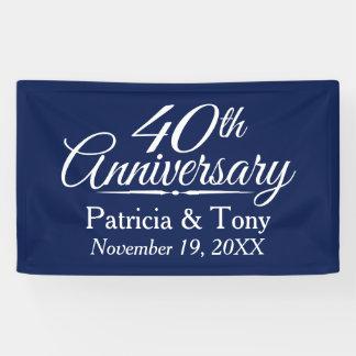 40. Hochzeitstag - KANN EDIT-FARBgewohnheit Banner