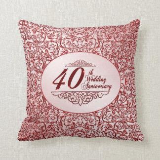 40. Hochzeitstag-Wurfs-Kissen Kissen
