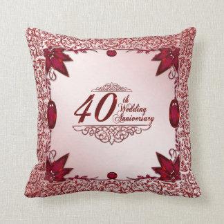 40. Hochzeitstag-Wurfs-Kissen Zierkissen