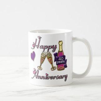 40. Jahrestag Tasse