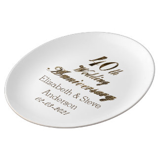 40. Karminrote Hochzeitstag-Typografie elegant Teller