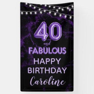 40 u. fabelhafte lila u. schwarze banner