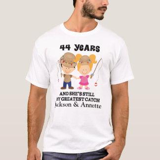 44. Jahrestags-kundenspezifisches Geschenk für ihn T-Shirt
