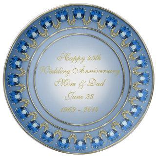 45. Hochzeitstag-Porzellan-Platte Porzellanteller