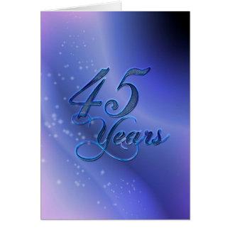 45 Jahre (Jahrestag) Karte