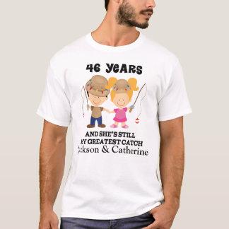 46. Jahrestags-kundenspezifisches Geschenk für ihn T-Shirt