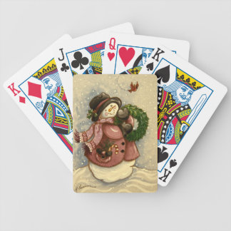 4886 Snowmanwreath-Kardinal Spielkarten