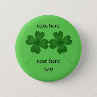 4 Blattklee für St Patrick Tag Runder Button 5,1 Cm