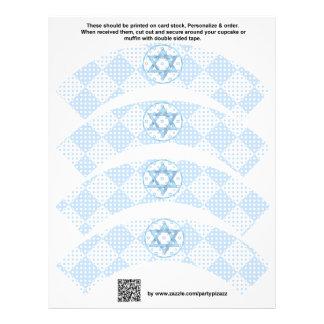 4 blauer Jungen-Bar Mitzvah kundenspezifische Flyer