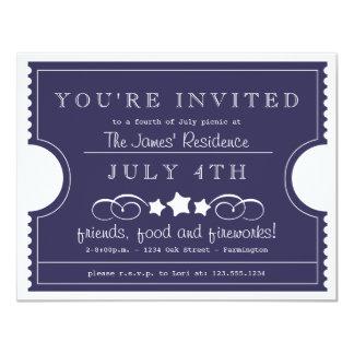 4. der Juli-Karten-Einladung 10,8 X 14 Cm Einladungskarte