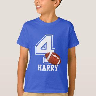 4. Geburtstagsjungenfußball personalized-2 T-Shirt