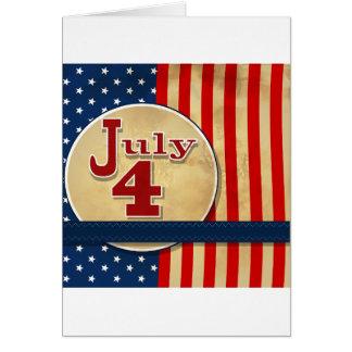 4. Juli amerikanische Flaggen-Mitteilungskarten Karte