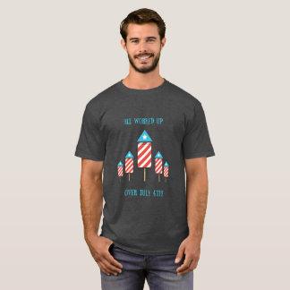 4. Juli Feuerwerk-Wortspiel-lustige Shirt-Männer T-Shirt