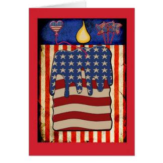 4. Juli Kerzenflagge notecard Karte