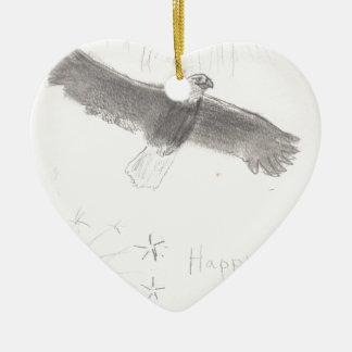 4' Th des kahlen Adlers Juli-Feuerwerke, der Keramik Herz-Ornament