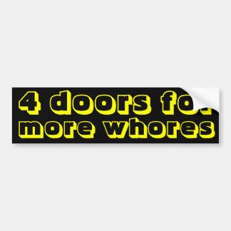 4 Türen für mehr Dirnen Autoaufkleber