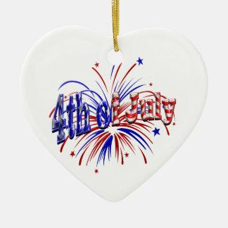 4. von Juli-Feuerwerken Keramik Herz-Ornament
