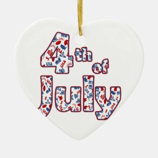 4. von Juli-Unabhängigkeitstag Keramik Ornament