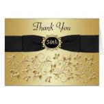 50. Blumen das Jahrestags-schwarze Gold danken Grußkarte