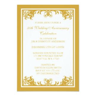 50. Der goldene Hochzeits-Jahrestag blühen Rolle 12,7 X 17,8 Cm Einladungskarte