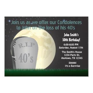 50. Geburtstag RIP 40s Einladung