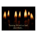 50 Geburtstag-Zu drehen ist nicht so schlecht. Grußkarte
