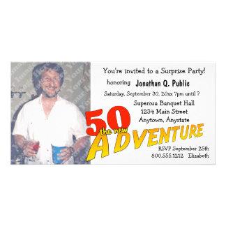 50. Geburtstags-Abenteuer-Party-Foto-Einladung Individuelle Photo Karte