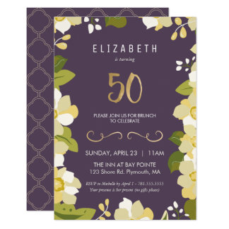 50. Geburtstags-Einladung fertigen 8,9 X 12,7 Cm Einladungskarte