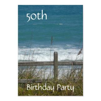50. Geburtstags-Feier-Ozean/Mann Karte