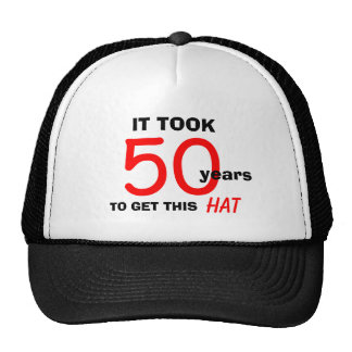 50. Geburtstags-Gag-Geschenk-Hut für Männer Kult Kappen