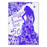 50. Geburtstags-Karte - fabelhaft, bezaubernd und