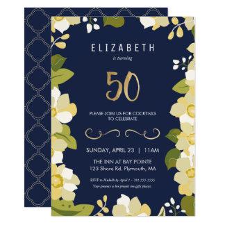 50. Geburtstags-Party Einladung fertigen