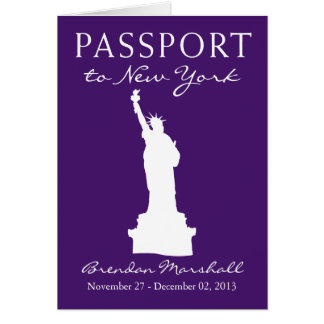 50. Geburtstags-Pass New York City Karte