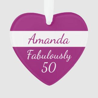 50. Geburtstags-rosa Verzierung fabelhaft 50 Ornament