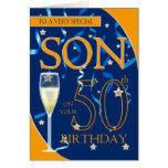 50. Geburtstags-Sohn - Champagne-Glas