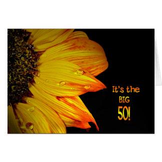 50. Geburtstags-Sonnenblume Karte