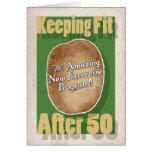 50. Geburtstagskarte: Kartoffel-Taschen-Fitness-Pr Grußkarte