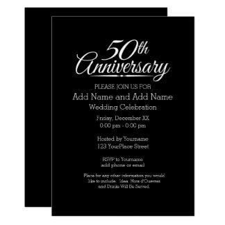 50. Goldene Hochzeits-Jahrestag personalisiert 12,7 X 17,8 Cm Einladungskarte