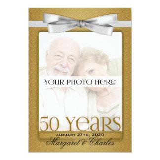50. Goldene Hochzeits-Jahrestags-Foto-Einladungen 12,7 X 17,8 Cm Einladungskarte