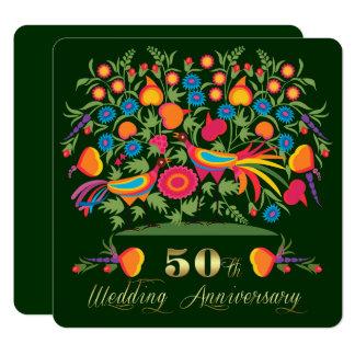 50. Goldene Hochzeits-Jahrestags-Party Einladungen