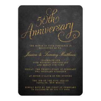 50. Goldene Hochzeitstag-Einladungen 12,7 X 17,8 Cm Einladungskarte